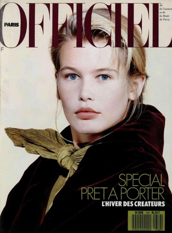 L'Officiel France cover with Claudia Schiffer - June 1989