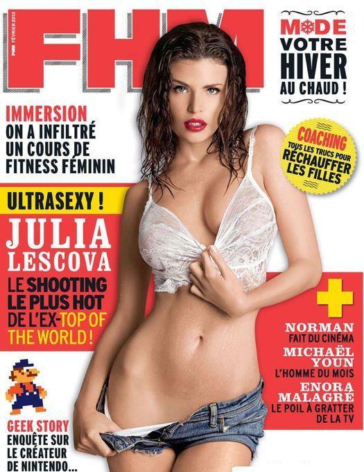 Fhm France Cover With Julia Lescova February Id