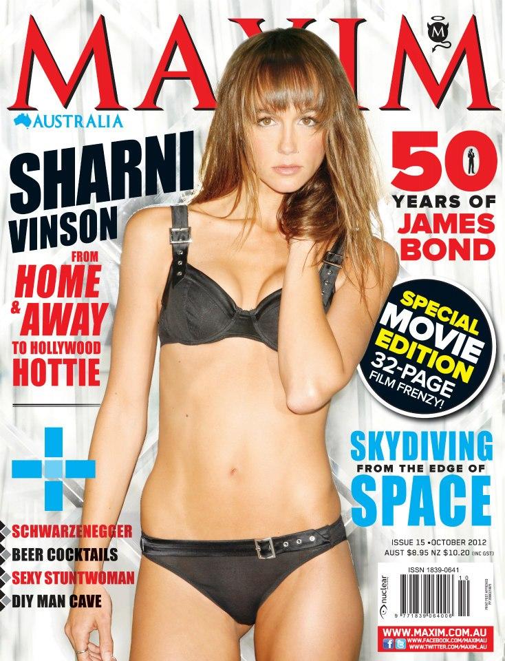 Cover of maxim australia with sharni vinson magazine october