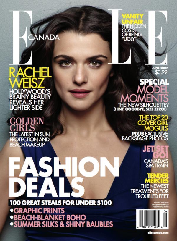 rachel weisz 2009. Elle Canada with Rachel Weisz