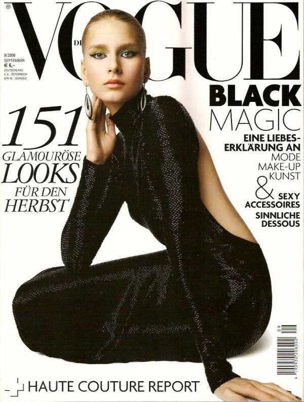 Vogue Germany cover with Hana Soukupova - September 2006