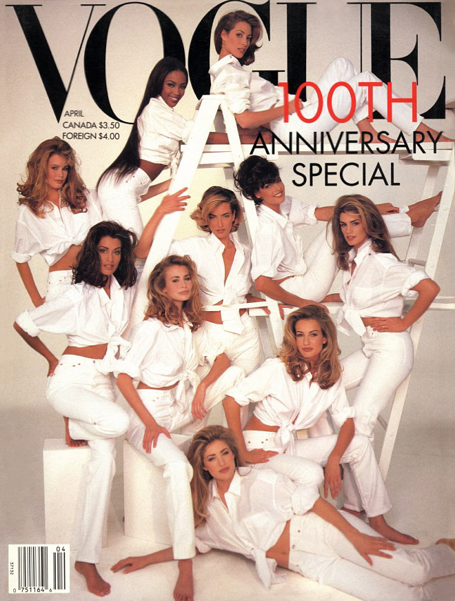 Vogue Usa Magazine Subscription: Muppet And Co: Vogue USA Supermodels: Then & Now