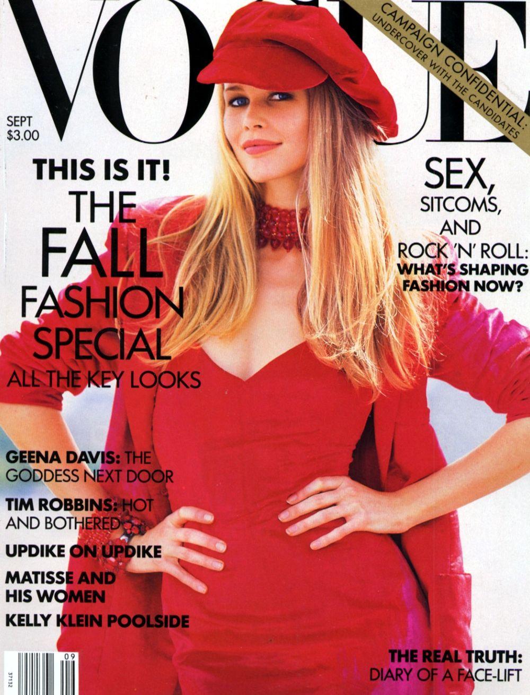 Vogue Usa Magazine Subscription: Covers Of Vogue USA With Claudia Schiffer, 958 1992
