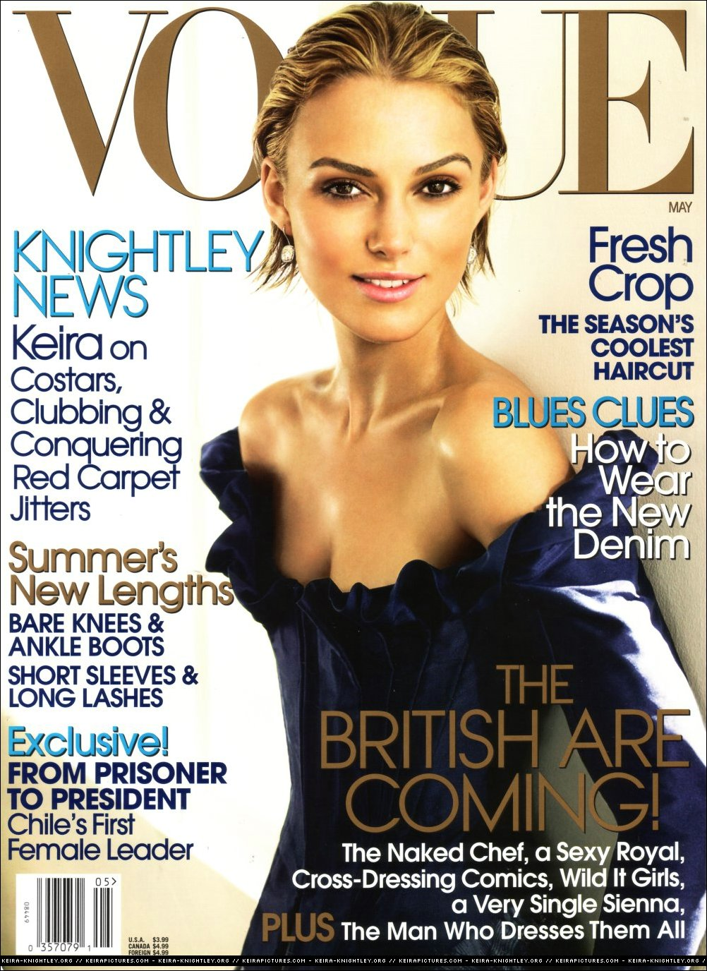 Vogue Usa Magazine Subscription: Covers Of Vogue USA With Keira Knightley, 958 2006