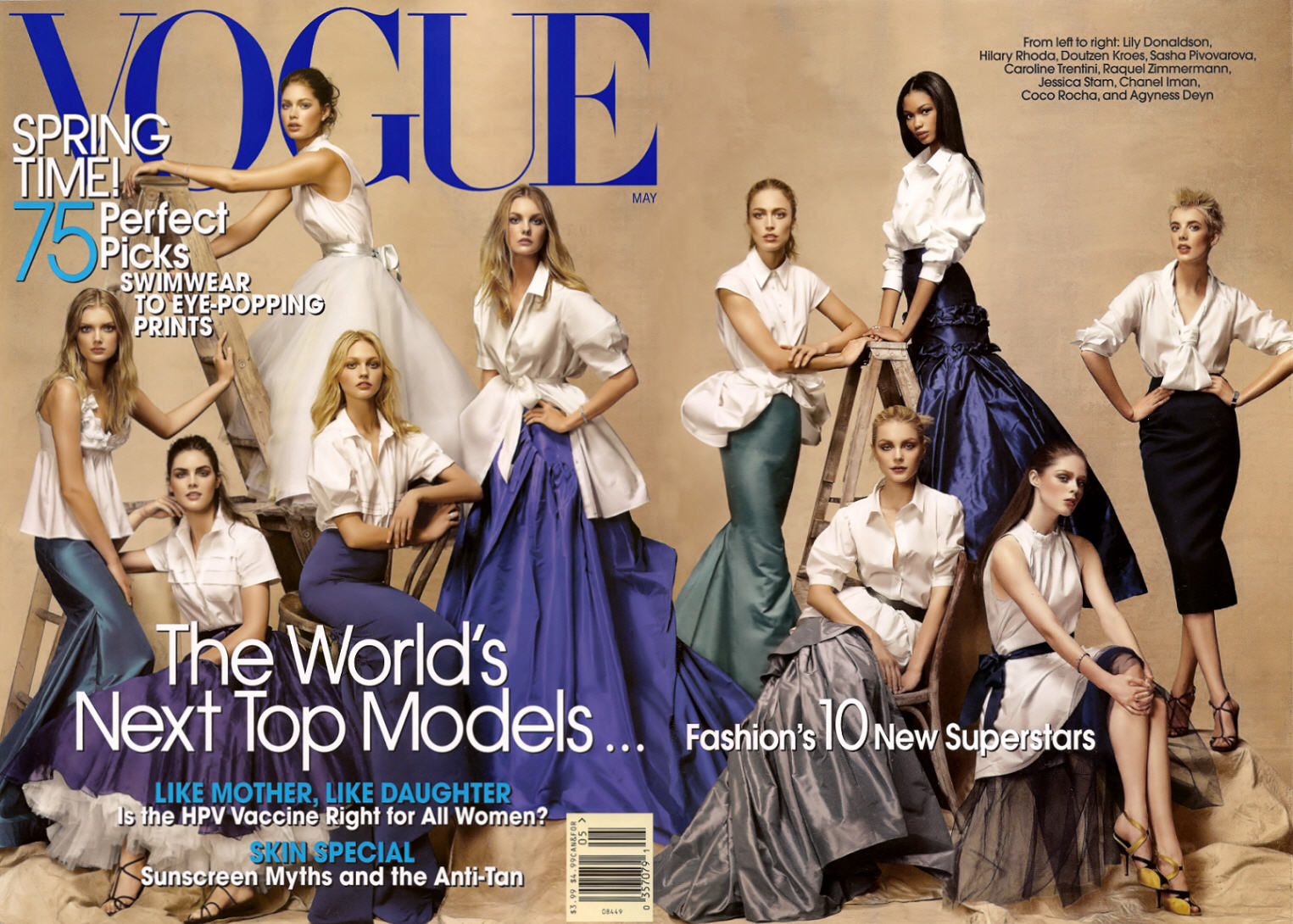 Duel of Models and Covers The Magazine Love: Gisele Bundchen and Agyness Deyn, among Others
