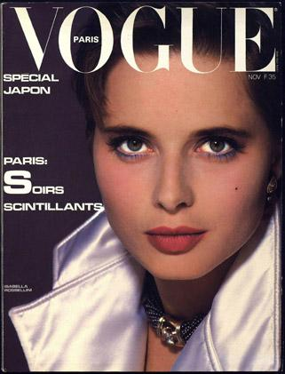 Covers of vogue paris with isabella rossellini 000 1983 for Isabella paris
