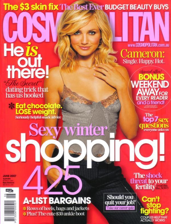 cameron diaz cosmopolitan 2011. Cameron Diaz